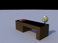 executive desk 3ds