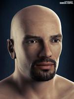 3d model realistic human male