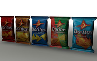 doritos chip bags 3d model