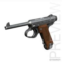 3d nambu typ14 - pistol model