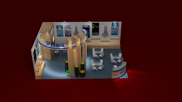 3d model stand exhibition - Special Custom Exhibition Stand... by cantuncel
