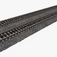 3d model of railway tracks 1