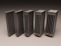 set arbonia bank radiator 3d model