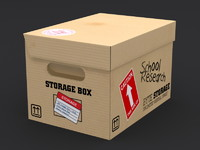 3d model brown archive box