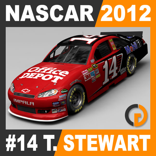 Nascar 2012 Car - Tony Stewart Chevrolet Impala #14