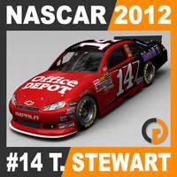 3d model nascar 2012 tony stewart