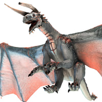3d realistic volcano dragon pose model