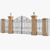 max classic carved gate entarance