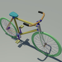 bike bicycle 3d max