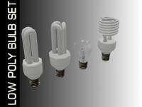 Low Poly Bulb Set