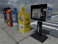 3d model newspaper vending machines