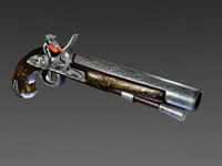 blender flintlock pistol