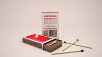 3d model matchbox matches