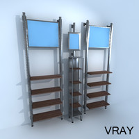 3d vertical retail racks