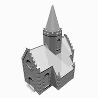 chapel medieval 3d model