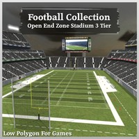 Football Collection Open End Zone Stadium 3 Tier