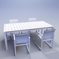 piano dining table 3d 3ds