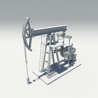 3d pumpjack jack pump model