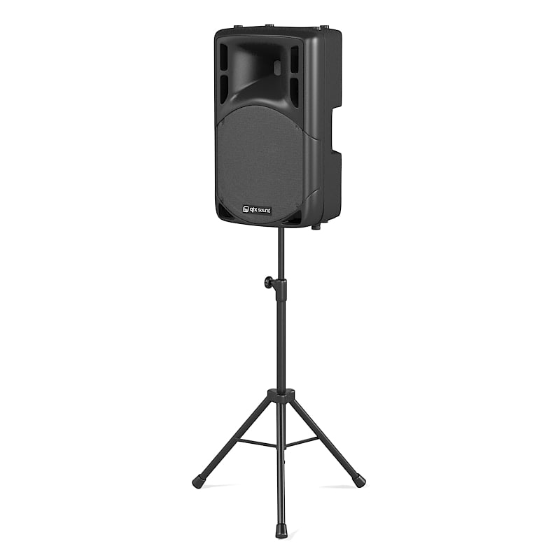 qtx portable self-powered two-way bass reflex design speaker professional hi-fi loudspeakers  dj tripod stand club stand0001.jpg