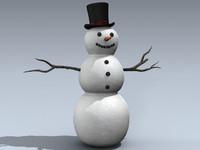 winter snowman 3d max