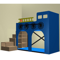 bunk train bed 3d max