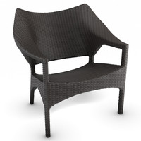 max woven lounge chair