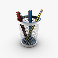 pencil holder pens 3d 3ds