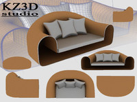 cross sofa 3d model