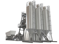 industrial beton plant 3d model