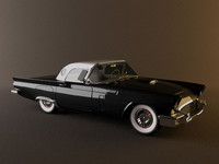 3d model interior thunderbird 1957