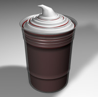 free hot chocolate drink 3d model