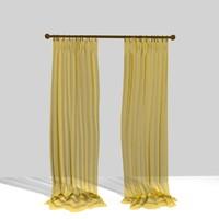 3d curtain 11 model