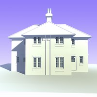 3d model 2 storey semi detached