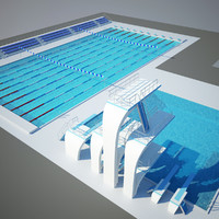 Swimming Pool and Diving Tower