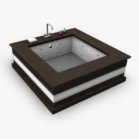3d model modern bath