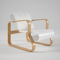 3d model artek armchair 41 paimio