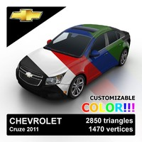 2011 chevrolet cruze color 3d max