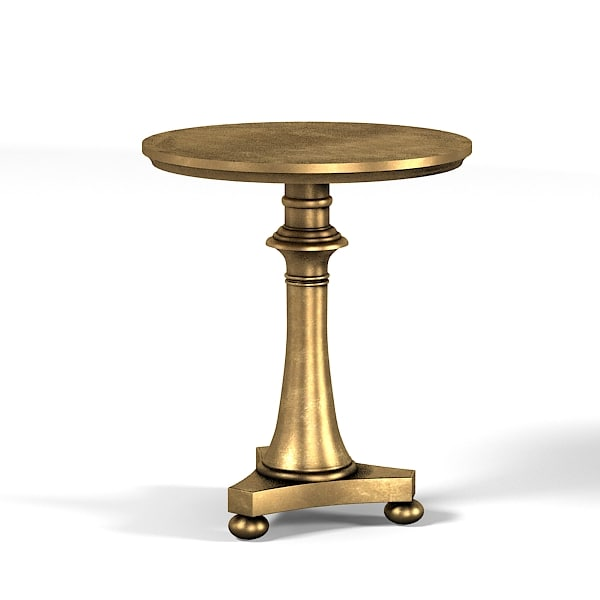 Collinet Round Pedestal  Side coffee modern table contemporary golden french furniture 0001.jpg
