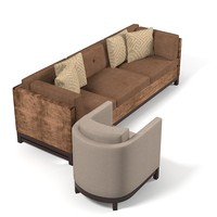 Boiler & co domicle Contemporray Lobby Sofa Chair Set
