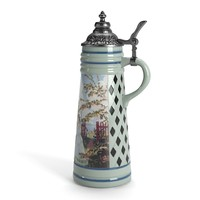 3d engraved beer stein model