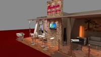 fair exhibition hotel 3d model