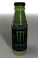 bottle monster 3d model