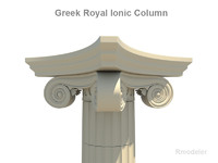 Greek ionic royal column