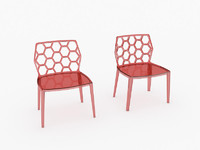 honey comb red chair 3d max