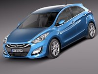hyundai i30 2013 hatchback 3d max