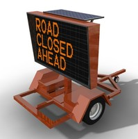 LED Highway Construction Message Board