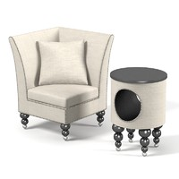 Lounge club furniture set