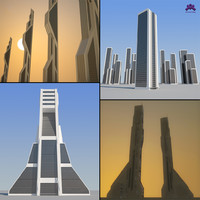 maya futuristic sci-fi skyscrapers buildings