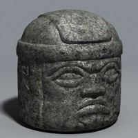 Olmec head statue