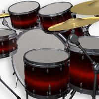 simple drum kit c4d